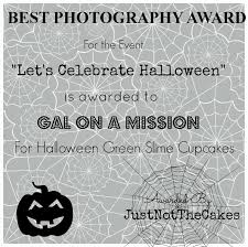 just not the cakes awards for the event lets celebrate halloween