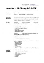 sample resume for medical application work resume format