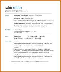 Resume Template Microsoft Word Download Free Cv Template For Microsoft Word Cbshow Co