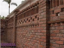 brick wall design 9 best walls and fences images on pinterest brick brick wall