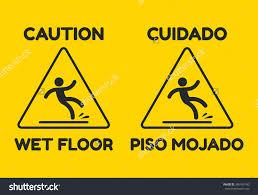 flooring wag93 caution wetloor sign walk left printable signs