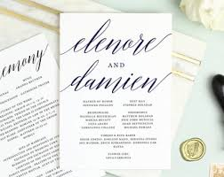 flat wedding programs etsy your place to buy and sell all things handmade