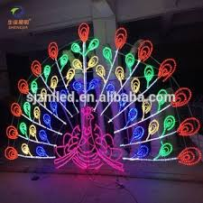 2016 new products 2d 3d peacock lights outdoor