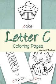 preschool letter activities letter c coloring pages letter