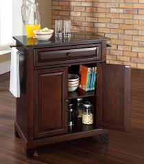 Kitchen Island Black Granite Top Buy Newport Solid Black Granite Top Portable Kitchen Island