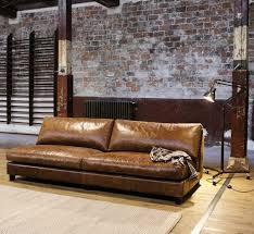 canapé sans accoudoir canapé en cuir marron sans accoudoir