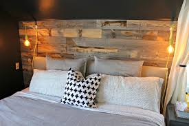 wooden wall bedroom master bedroom reclaimed wood accent wall view from the fridgeview