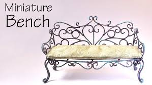 How To Make Dolls House Furniture Miniature Furniture Vintage Romantic Bench Tutorial Dolls