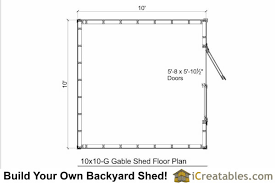 shed floor plan 10x10 shed plans backyard shed storage shed plans icreatables