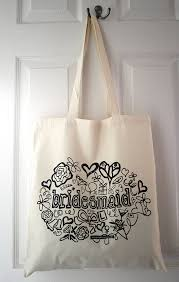 bridesmaid tote bags bridesmaid tote bag by solographic notonthehighstreet