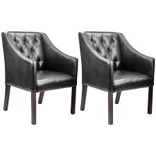 Leather Club Chair For Sale Antonio Transitional Bonded Leather Club Accent Chair Set Of 2