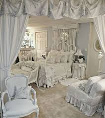 shabby chic bedroom decorating ideas all white shabby chic bedroom with ruffled textiles camas