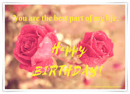 two wet red rose happy birthday card hd your are best part of my