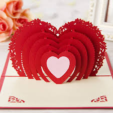 paper greeting cards 3d greeting cards card handmade pop up heart shape paper cut
