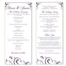 discount wedding programs shop purple wedding programs on wanelo