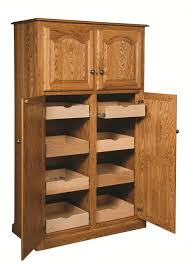 Oak Kitchen Pantry Storage Cabinet Amish Country Traditional Kitchen Pantry Storage Cupboard Cabinet