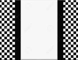 Black And White Checkered Black And White Checkered Frame With Ribbon Background With Center