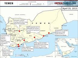 Map Of Yemen 2015 Yemen Crisis Situation Report April 15 Critical Threats