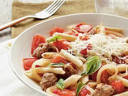 Pasta Sausage Fresh Tomato Sausage And Pecorino Pasta Recipe Myrecipes