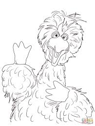 big bird coloring sesame street big bird coloring free