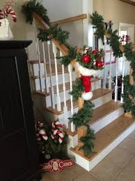 Banister Decorations For Christmas Sew Many Ways Christmas Home Tour 2015