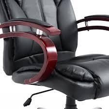 aosom homcom pu leather high back executive office chair with