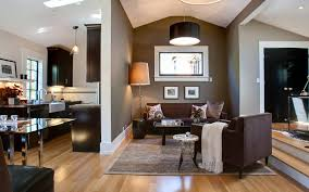 Brown Interior Design by Luxury Living Room In Black And White Color Theme With Dark Brown