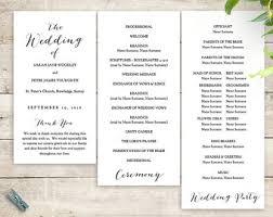 how to print wedding programs wedding programs etsy