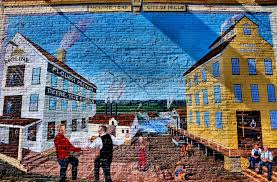 city of mills mural by william gustafson in moline illinois city of mills mural by william gustafson in moline illinois