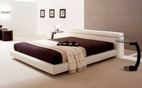 modern bedroom set focus on floating bed frame design plus