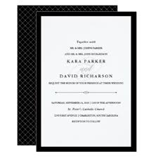 wedding invitations black and white black and white weddings invitations announcements zazzle