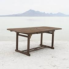 Extendable Dining Table We Furniture Solid Acacia Wood Patio Extendable