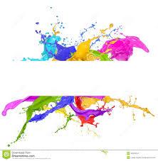 colorful paint splash white background colourful paint