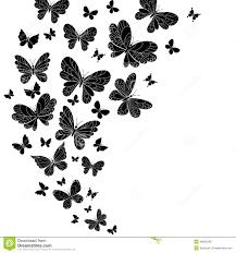flowing curving design of flying butterflies stock vector image