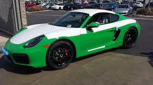 porsche dark green cayman gts build