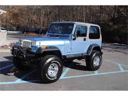 jeep wrangler turquoise for sale 1989 jeep wrangler for sale classiccars com cc 966122
