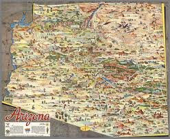 Maps Of Arizona A Pic Tour Map Of Arizona David Rumsey Historical Map Collection