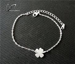 lucky leaf bracelet images Lucky four leaf clover bracelet vjolly store jpg
