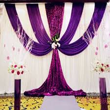 Curtain Drapes For Weddings Aliexpress Com Buy 2016 Purple And White Wedding Backdrop With