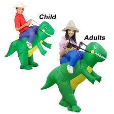 novelty parent child dinosaur cosplay costumes fake rider blow up
