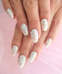 15 white and silver wedding nail designs images wedding white
