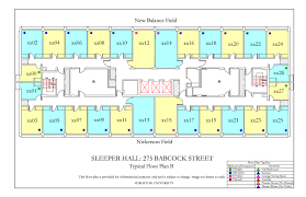 The O2 Floor Plan by Sleeper Hall Housing Boston University