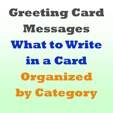 greeting card messages examples of what to write messages