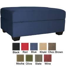 ottomans blue pouf ottoman storage ottoman blue tufted leather