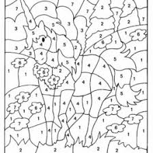 free color by number multiplication worksheets all about coloring