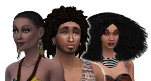 the sims 4 natural curly hair afro hair gallery