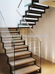 modern precast residential stairs with carbon steel stringer and