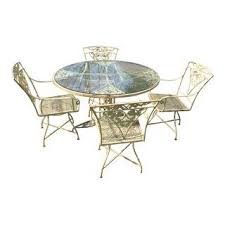 Wrought Iron Patio Table And Chairs Vintage U0026 Used Wrought Iron Patio And Garden Furniture Chairish