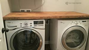 washer and dryer cover ups diy laundry room countertop for under 40 down home inspiration