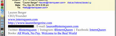 how to set up an email signature intern queen inc